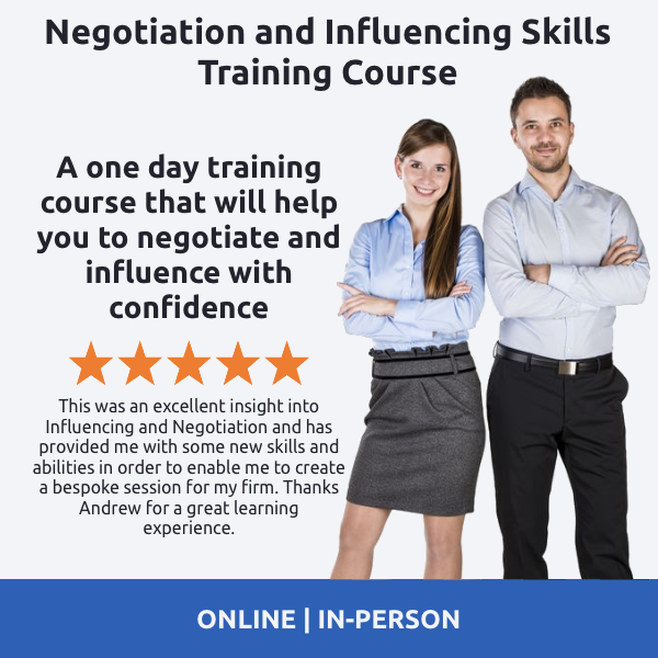 Negotiation and Influencing Skills Training Course