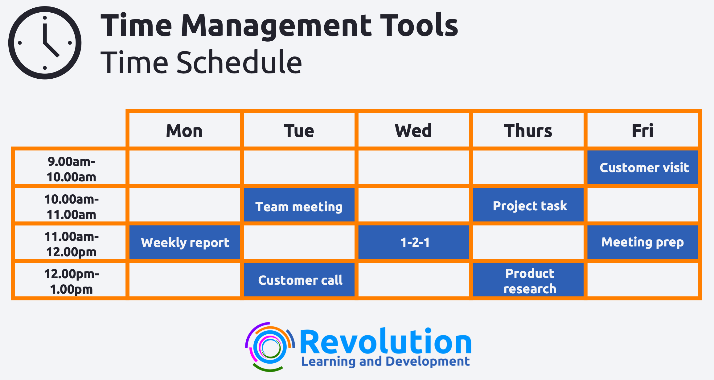 time management tools - time schedule
